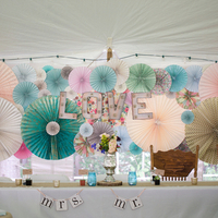 Paper Pinwheel Backdrop