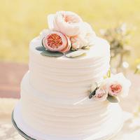 Peach Garden Rose Cake