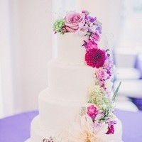 Pink and Purple Floral Cake
