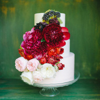 Romantic Peony and Rose Cake