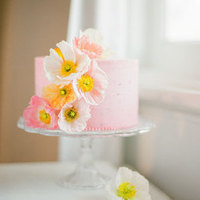 Pink and Orange Poppy Cake