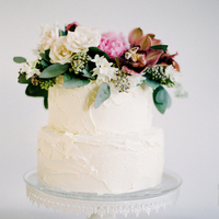 Cymbidium and Eucalyptus Cake