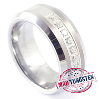 #tungsten #rings with Cut Design