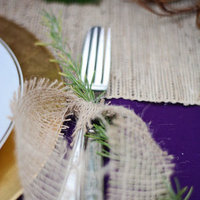 Burlap Wrapped Silverware