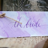 Purple Watercolor Place Card