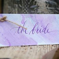 Purple Watercolor Place Card