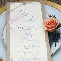 Romantic Calligraphy Menu Card