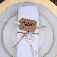 Gold and Kraft Place Setting