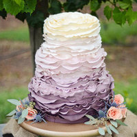 Ruffled Purple Ombre Cake