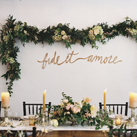 Green Garland Table Backdrop