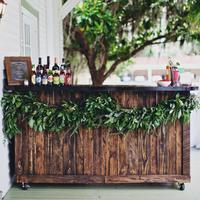 Green Garland on Bar