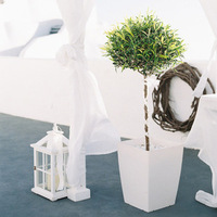 Modern Topiary Ceremony Decor