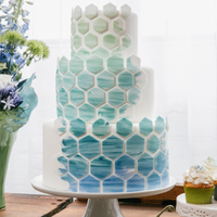 Hexagon Patterned Cake