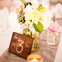 Elegant Wood Table Numbers