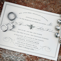 Black and White Bee Invitation