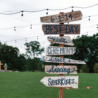 Rustic Wood Wedding Signs