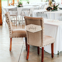 Burlap Bride and Groom Chairs