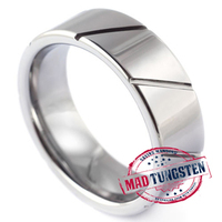 Calibre Brushed Carbide Ring-Mad Tungsten
