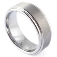 Square base with Step Edges - Mad Tungsten Rings