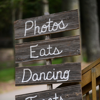 Wooden Reception Signage