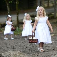 Three Cute Flower Girls