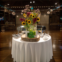 Rustic Camp Reception Decor