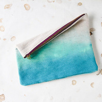 DIY Watercolor Bridesmaid Gift Clutch