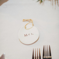 """Mrs."" Place Card"