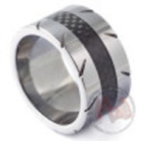FIVE O TUNGSTEN RINGS