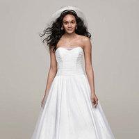 white, ivory, Strapless, Tulle, Floor, Sleeveless, Ball gown, chapel train