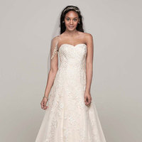 Sweetheart, A-line, Tulle, Floor, Sleeveless, Sweep, ivory/champagne, solid ivory, solid white