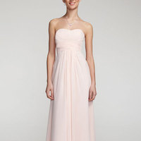Long, Strapless, A-line, Chiffon, Sleeveless, available in all colors