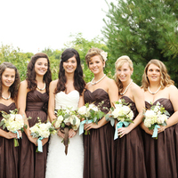 Brown Strapless Dresses