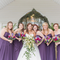 Purple Strapless Dresses