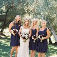 Navy Blue Chiffon Dresses