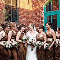 Chocolate-Colored Bridesmaid Dresses