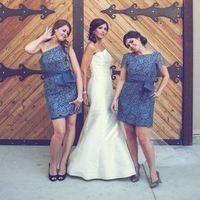 Dark Blue Lace Dresses