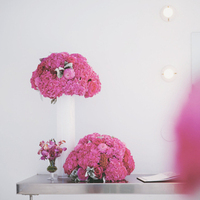 Modern Pink Reception Flowers