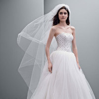 ivory, Strapless, Tulle, Jeweled, Sleeveless, Ball gown