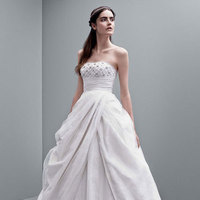 ivory, Strapless, Tulle, Sleeveless, Oyster, Tafetta, Ball gown