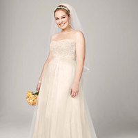 ivory, Lace, Champagne, Sweetheart, A-line, Tulle, Floor, Sleeveless