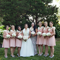 Stephanie with her Bridesmaids