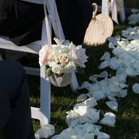 Pink and White Aisle Markers