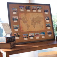 Vintage Map Seating Chart