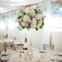 Tall, Romantic Centerpieces