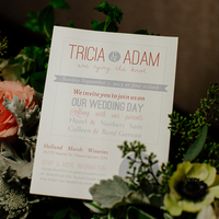 Tricia and Adam's Invitations