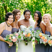 Tricia and her Bridesmaids