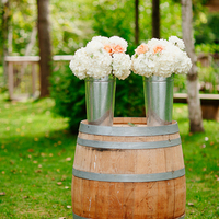 Rustic Winery Ceremony Flowers