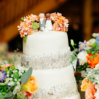 Rustic Glam Wedding Cake