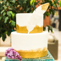 Gold Feather Cake